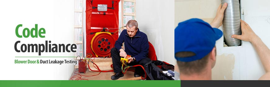 Blower Door and Duct Leakage Testing for Code Compliance in Maryland & DC Metro Areas
